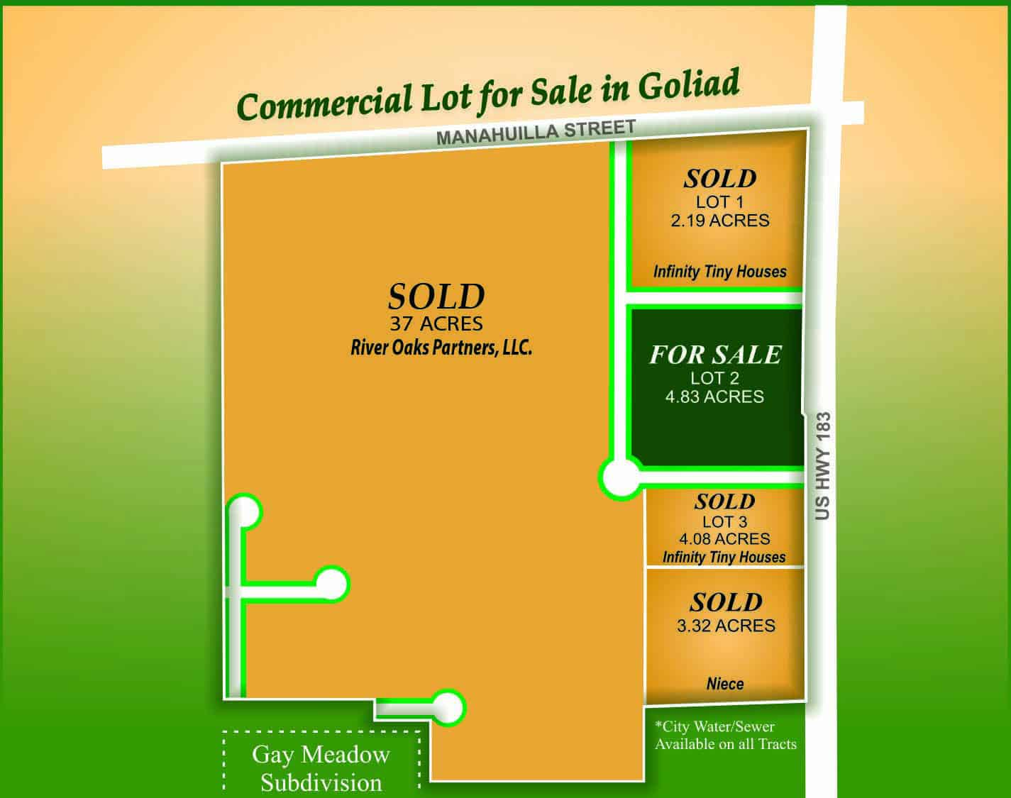 Commercial Lot for Sale in Goliad Tx